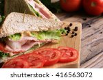 sandwich with lettuce  tomato ... | Shutterstock . vector #416563072