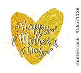 happy mother's day card with... | Shutterstock .eps vector #416571136