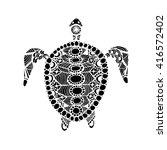 tortoise ornate  zentangle for... | Shutterstock .eps vector #416572402