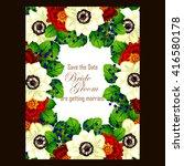 vintage delicate invitation... | Shutterstock . vector #416580178
