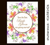 romantic invitation. wedding ... | Shutterstock . vector #416581426