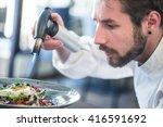 chef preparing food. cook... | Shutterstock . vector #416591692