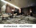 luxury lobby interior.with... | Shutterstock . vector #416594032