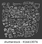 hand drawn business icons set....   Shutterstock .eps vector #416613076