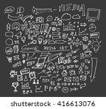 hand drawn doodle vector... | Shutterstock .eps vector #416613076