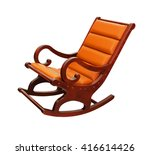 rocking chair upholstered with... | Shutterstock . vector #416614426