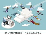 publishing sector workers... | Shutterstock .eps vector #416621962