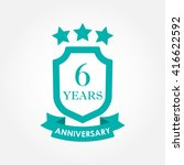 6 years anniversary icon or... | Shutterstock . vector #416622592