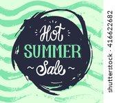 summer sale design brush hand... | Shutterstock .eps vector #416622682