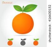 orange vector icon cartoon... | Shutterstock .eps vector #416630152