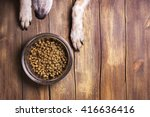 bowl of dry kibble dog food and ... | Shutterstock . vector #416636416