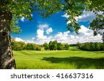 spring country landscape | Shutterstock . vector #416637316