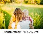 mom hugging her son   Shutterstock . vector #416642695