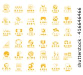children icons set   isolated... | Shutterstock .eps vector #416646466