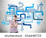 different direction concept... | Shutterstock . vector #416648725