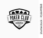 poker logo. vector and... | Shutterstock .eps vector #416649868