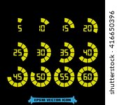 digital timer icon | Shutterstock .eps vector #416650396