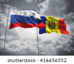 3d illustration of russia  ... | Shutterstock . vector #416656552