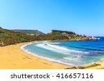 a view of a golden bay in ghajn ... | Shutterstock . vector #416657116