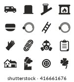 chimney sweeper icons | Shutterstock .eps vector #416661676