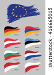 european flags | Shutterstock .eps vector #416665015