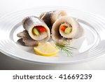 marinated herring fillets | Shutterstock . vector #41669239