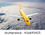 Orange Passenger Jet Plane Is...