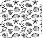 seamless vector pattern of sea... | Shutterstock .eps vector #416698258