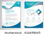 vector brochure flyer design... | Shutterstock .eps vector #416698645
