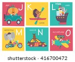 cute vector alphabet with... | Shutterstock .eps vector #416700472