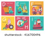 cute vector alphabet with... | Shutterstock .eps vector #416700496