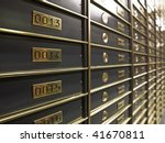 Rows Of Luxurious Safe Deposit...