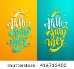 summer lettering set. some... | Shutterstock .eps vector #416713402