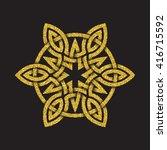 golden glittering logo symbol... | Shutterstock .eps vector #416715592
