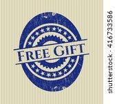 free gift grunge stamp
