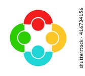 people logo. group of four... | Shutterstock .eps vector #416734156