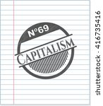 capitalism drawn with pencil... | Shutterstock .eps vector #416735416