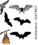 illustration with bat... | Shutterstock .eps vector #41673817