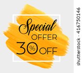 season special offer sale 30 ... | Shutterstock .eps vector #416750146
