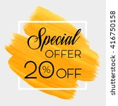 season special offer sale 20 ... | Shutterstock .eps vector #416750158