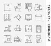 big set of modern thin line...   Shutterstock .eps vector #416757862