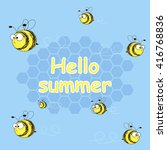 hello summer. vector... | Shutterstock .eps vector #416768836