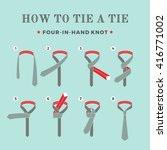 instructions on how to tie a... | Shutterstock . vector #416771002