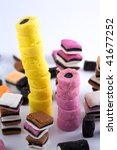 Towers Of Licorice Sweets