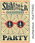 typographic summer party grunge ... | Shutterstock .eps vector #416775502