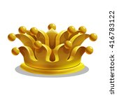 cartoon gold crown. vector...