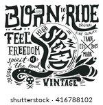 hand drawn grunge vintage... | Shutterstock .eps vector #416788102