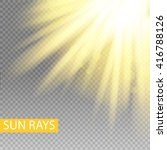 sun rays yellow warm light...   Shutterstock .eps vector #416788126