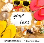 blank white card for your... | Shutterstock . vector #416788162