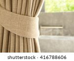 Brown Curtain With Beautiful...